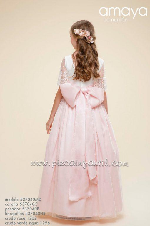 amaya-537040MD-vestidocomunion-2021rosa-espalda-pizcainfantil