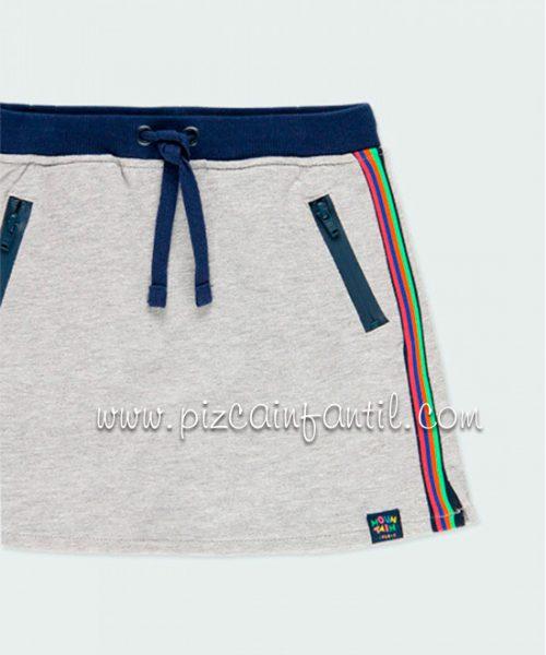 boboli-403041-falda-felpa-banda-niña--pizcainfantil