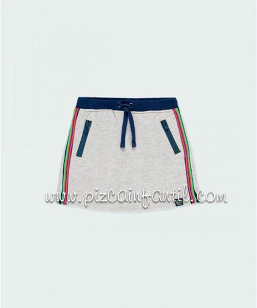 boboli-403041-falda-felpa-banda-niña-pizcainfantil