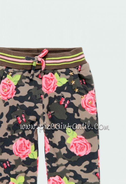 boboli-421018-pantalon-felpa-elastica-flores-niña--pizcainfantil