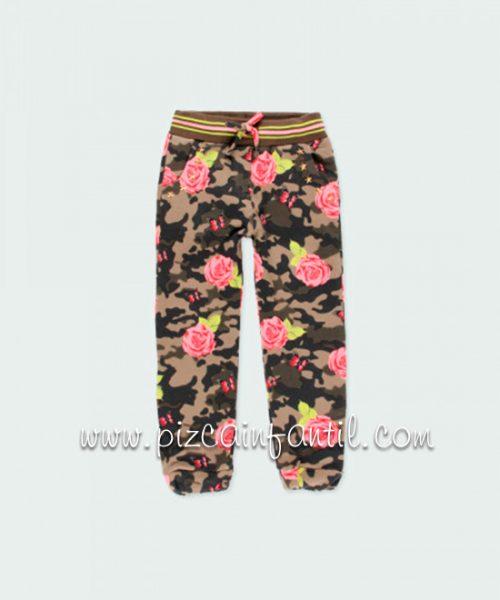 boboli-421018-pantalon-felpa-elastica-flores-niña-pizcainfantil