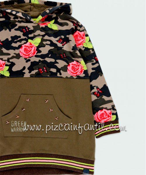 boboli-421085-vestido--punto-combinado-flores-niña-pizcainfantil
