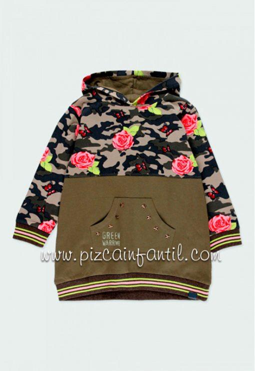 boboli-421085-vestido-punto-combinado-flores-niña-pizcainfantil