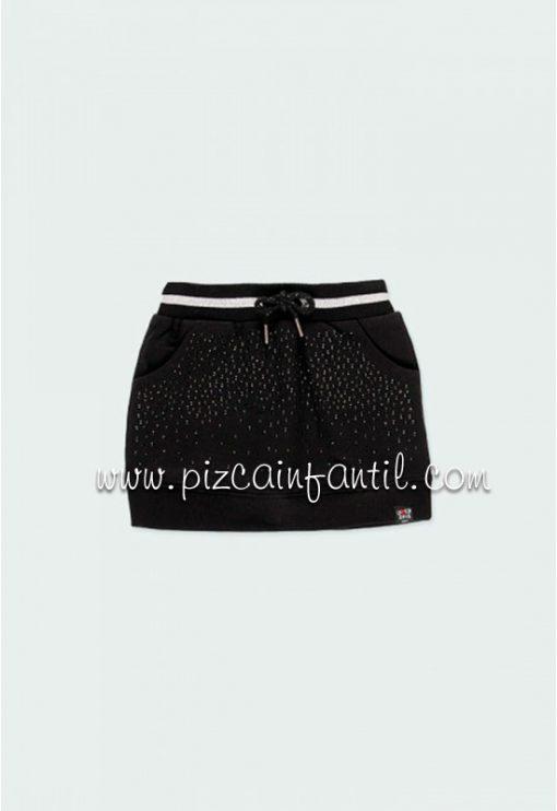 boboli-433156-falda-punto-niña-negra-pizcainfantil